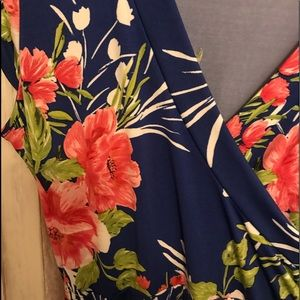 New York and Co floral maxi dress large
